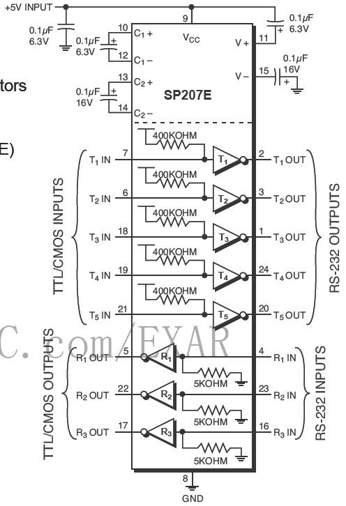 Sp213e 15kv Esd 5v 4 5 Rs 232 Bdtic Sp213e