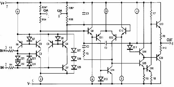 op07型低噪声高精度运算放大器