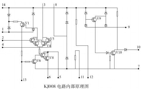 KJ008 可控硅移相电路内部原理图