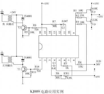 锯齿波斜率电位器rw1,可以使不同的移相控制电压获得