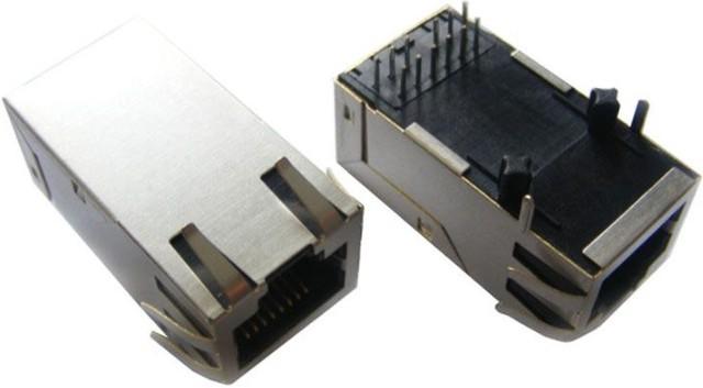集成滤波器rj45网络接口插座