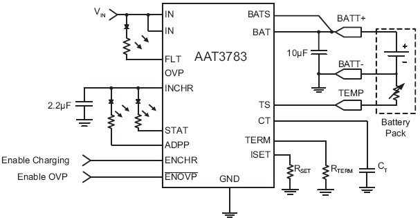 aat3783 1 polymer battery charger with 28v