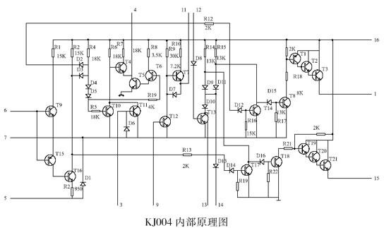 kj004 可控硅移相电路内部原理图
