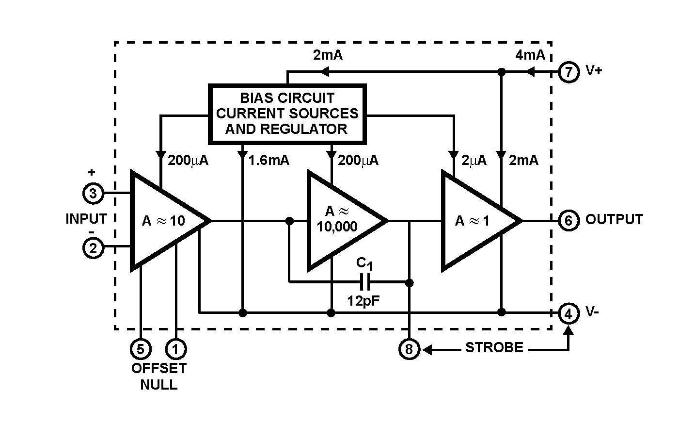 CA3140T Integrated Circuit
