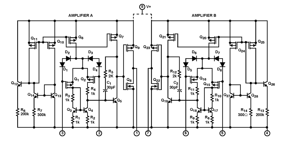 ca3260  4mhz  bimos operational amplifier with mosfet