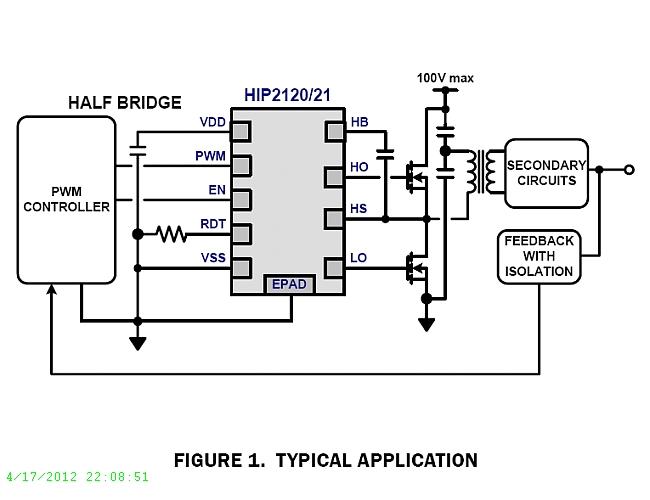 hip2121  100v  2a peak  high frequency half