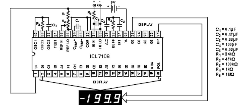 Icl7107  3 1  2 Digit  Lcd  Led Display  A  D Converters