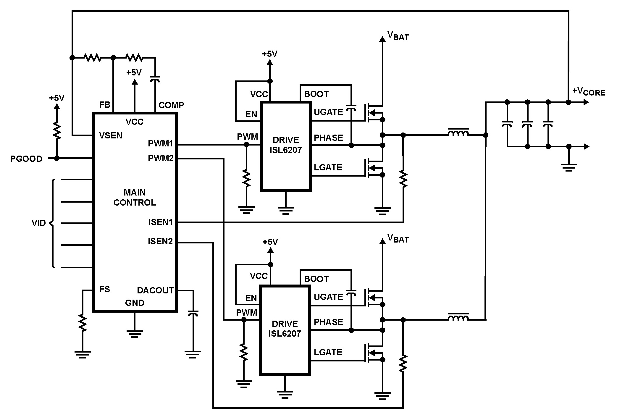 isl6207  high voltage synchronous rectified buck mosfet driver   bdtic a leading distributor in
