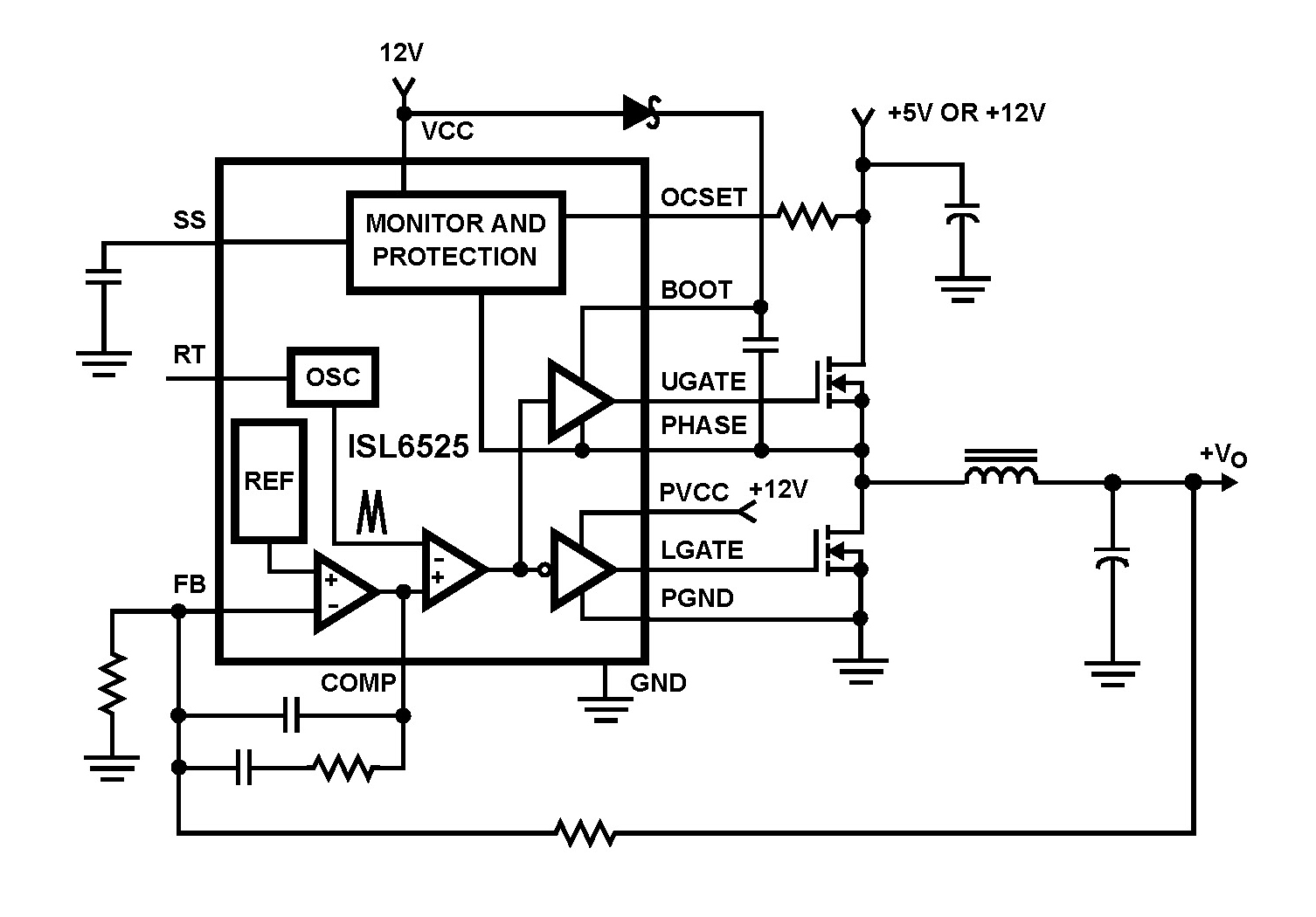 isl6525: buck and synchronous-rectifier pulse-width modulator