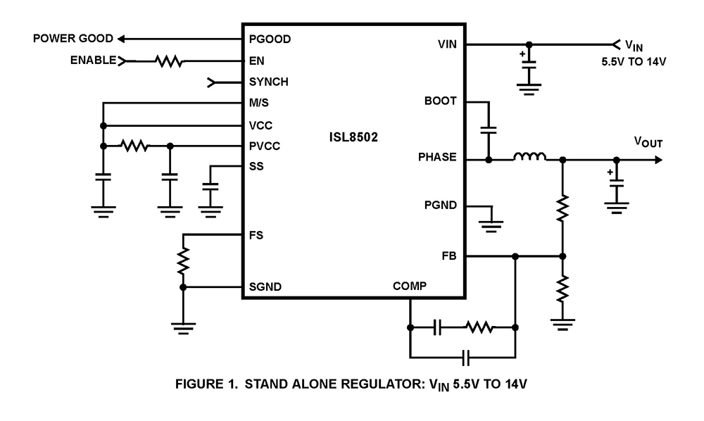 isl8502  2a synchronous buck regulator with integrated mosfets   bdtic a leading distributor in