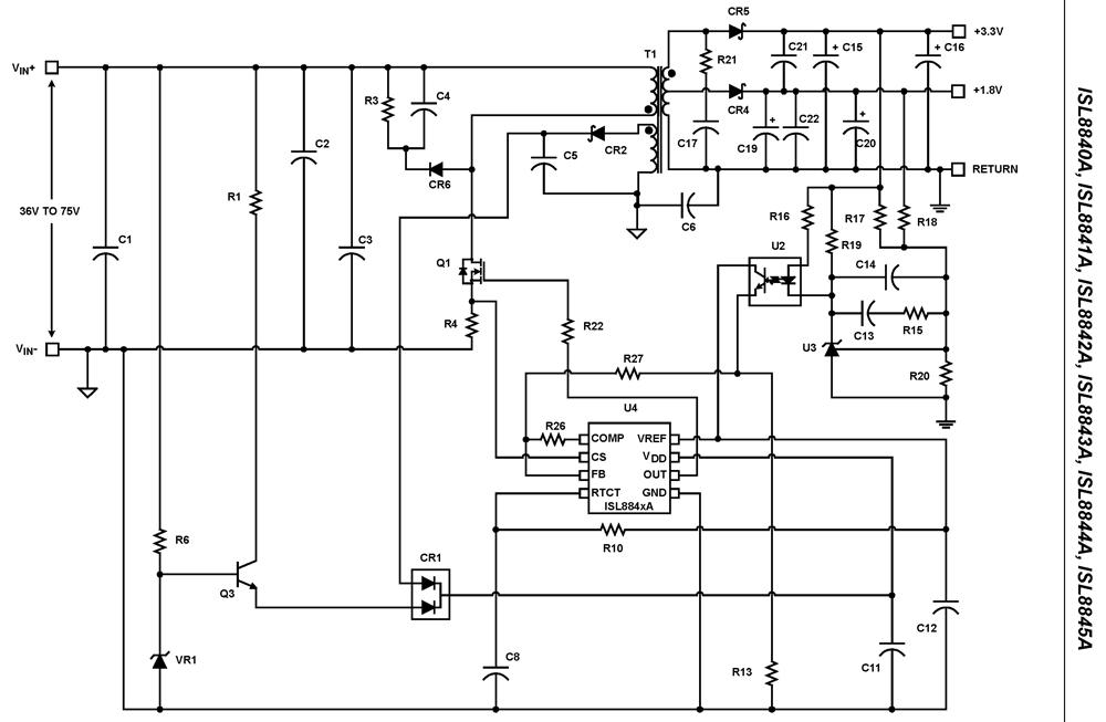 isl8844a  high performance industry standard single