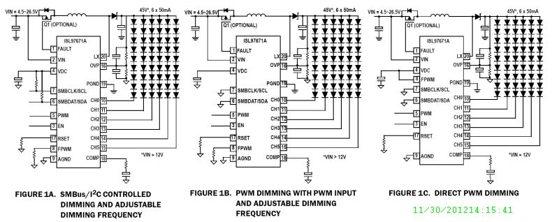 isl97671a 6 channel smbus i2c or pwm dimming led driver with phase rh bdtic com