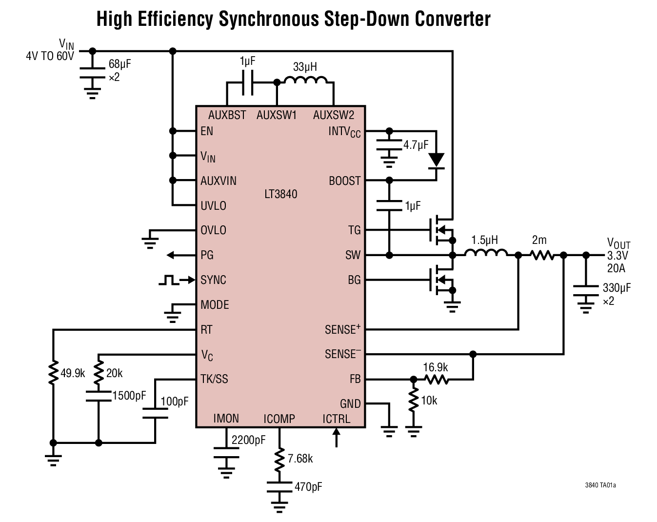 Current Limit Circuit Lt Wide Input Range Synchronous Regulator Controller With 1347x1070
