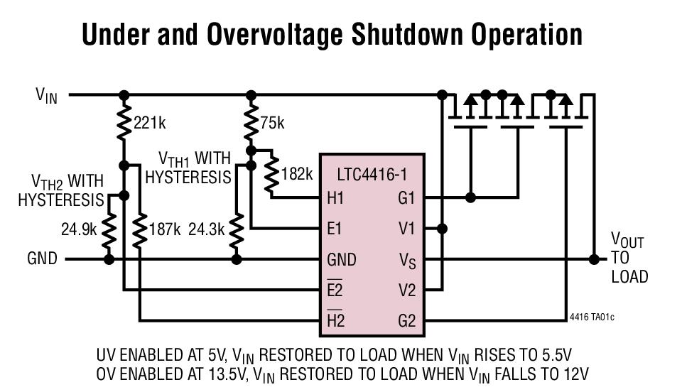每个通道 35μa 负载均流 mosfet 栅极保护箝位 高精度输入控制比较器