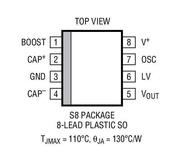 凌力尔特 电源管理 无电感型 (充电泵) dc/dc 转换器 未调整的倍压