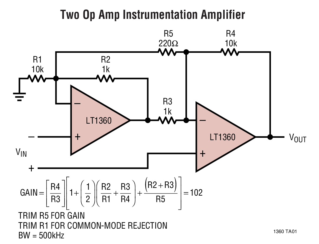Lt1360 50mhz 800v S Op Amp Bdtic A Leading Distributor In China Inverting Amplifier Circuit Typical Application