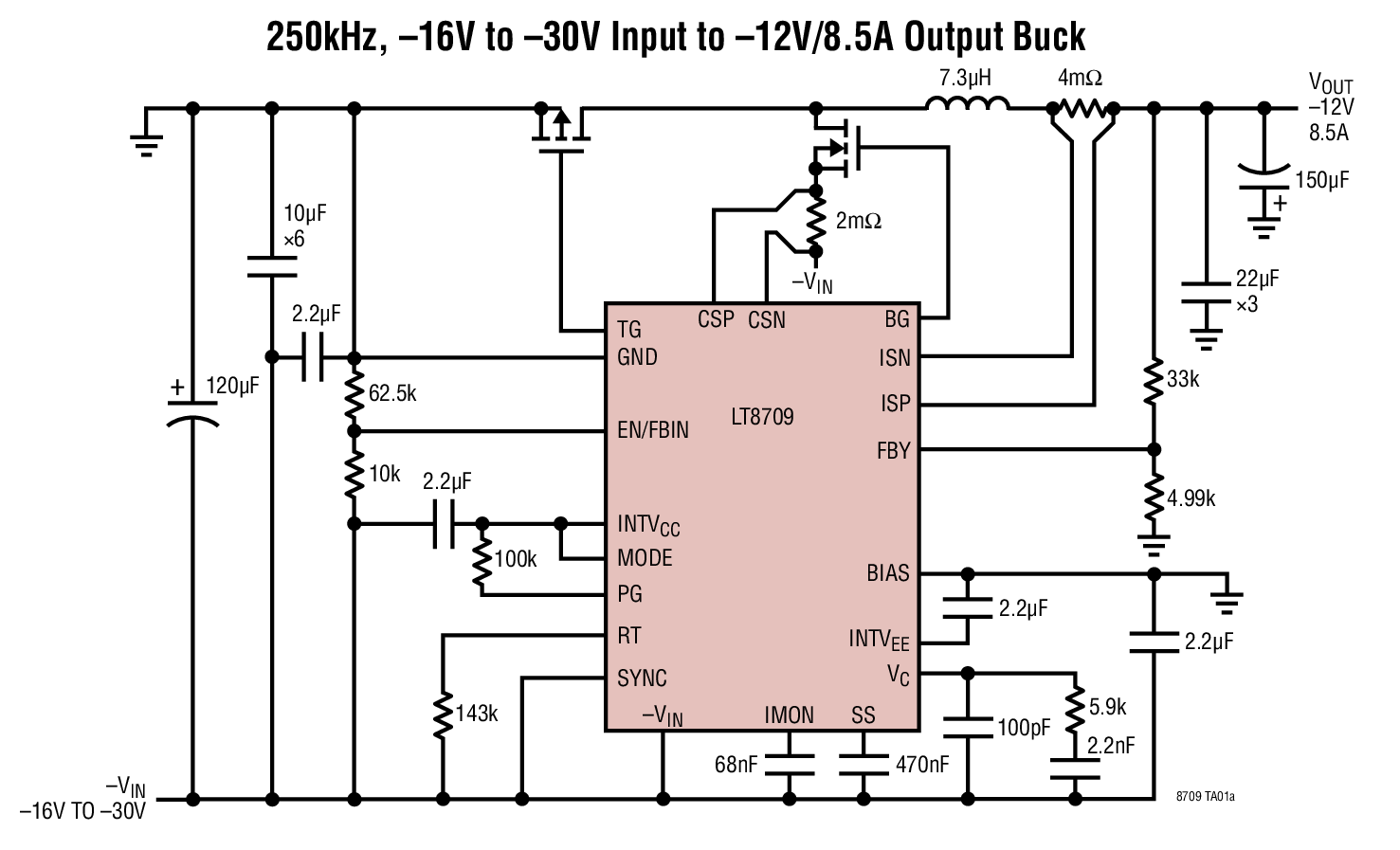 Lt8709 Negative Input Synchronous Multi Topology Dc Controller Design Of Temperature Controlled Pwm Boost Converter Circuit Applications