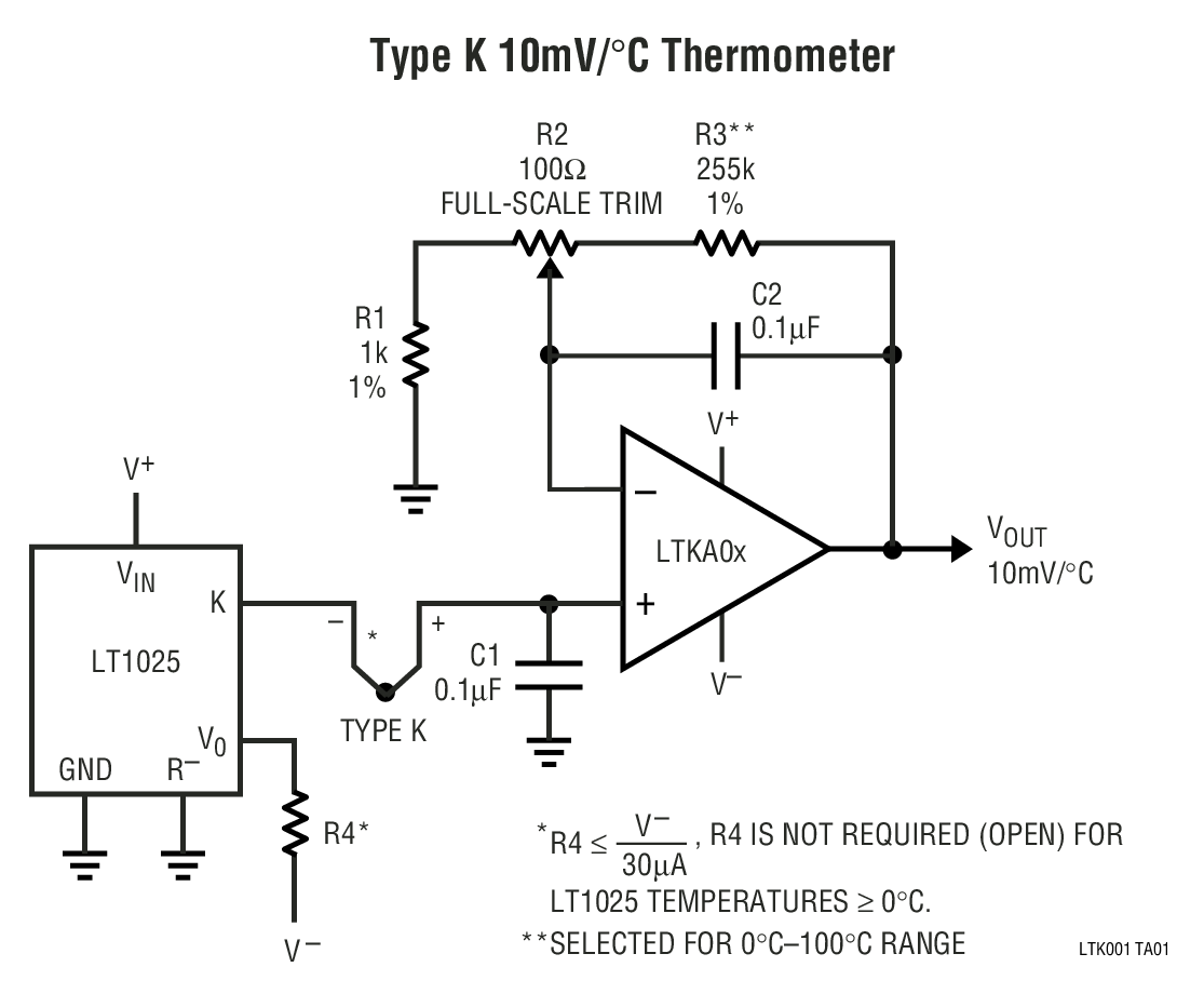 Thermocouple Amplifier Circuit Diagram Amplifiercircuit Seekiccom And Ltk001 Cold Junction Compensator