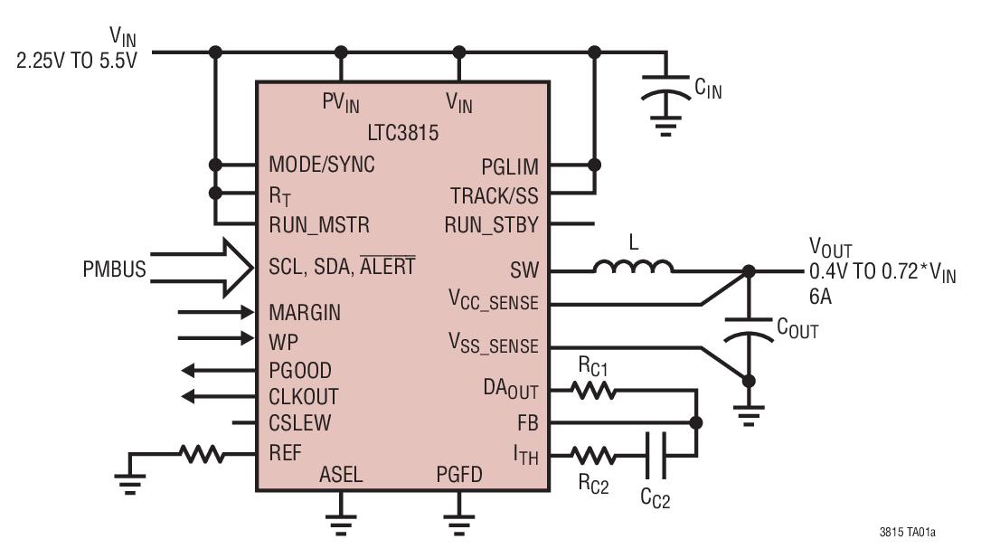 引脚可编程门限和滤波器延迟 差分输出电压远端采样 主控器停机模式: