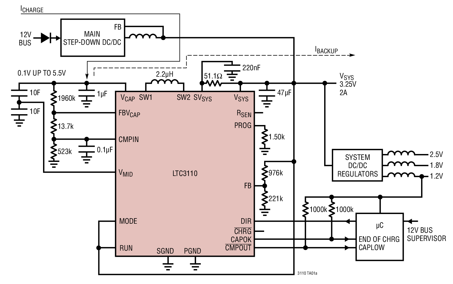 LTC3110 - 2A Bidirectional Buck-Boost DC/DC Regulator and