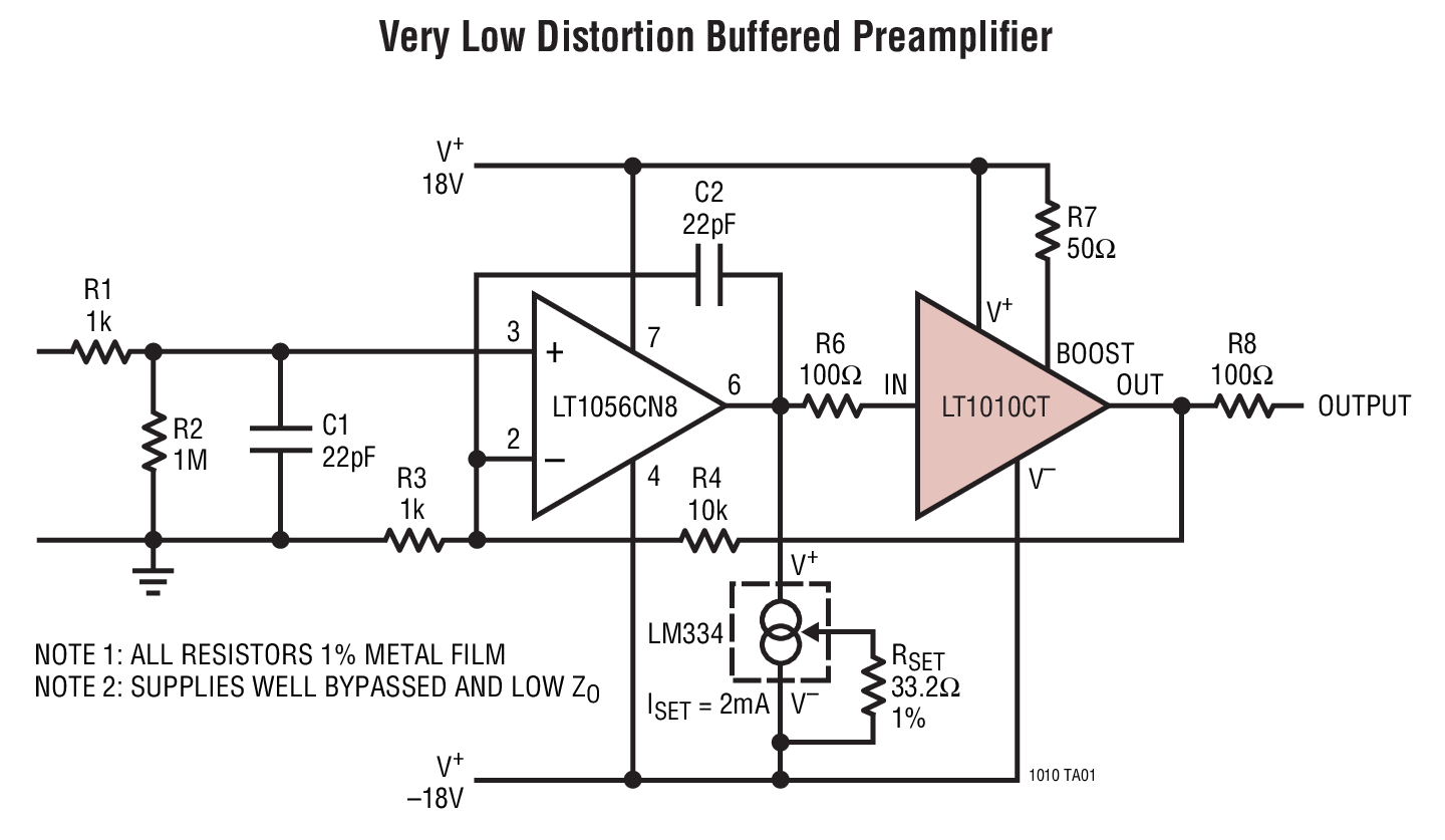 LT1010 - Fast 150mA Power Buffer _ BDTIC a Leading