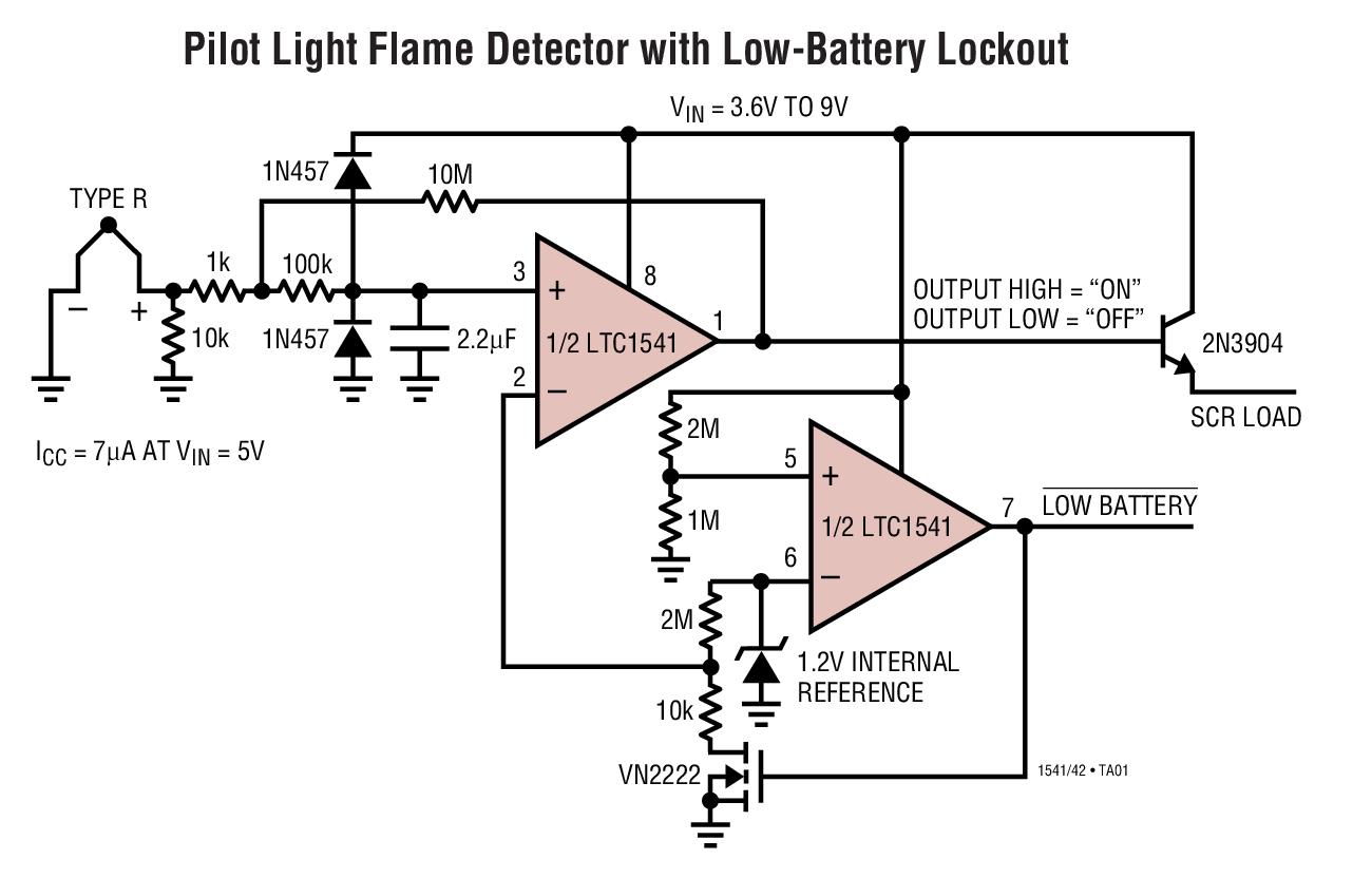 ltc1541 - 微功率运算放大器,比较器和基准