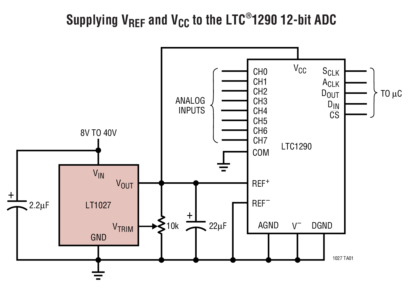 LT1027 Typical Application