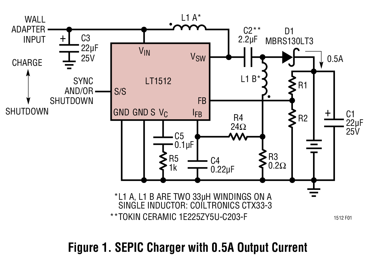 Circuit Diagram Constant Voltage Source Trusted Wiring Current Lt1512 Sepic Battery Charger Regulator