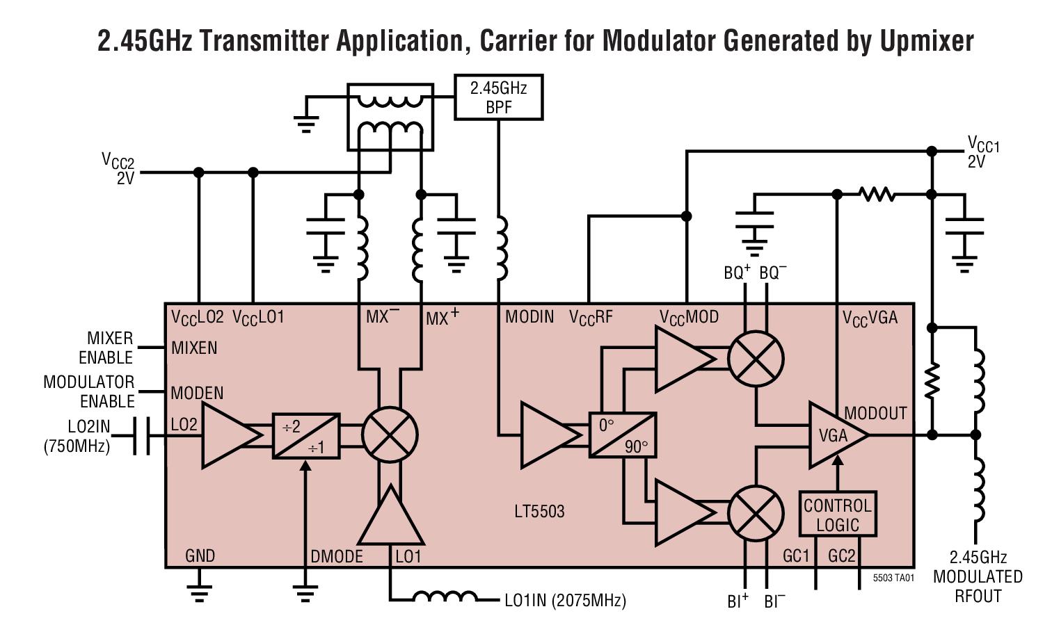 低功率低音电路