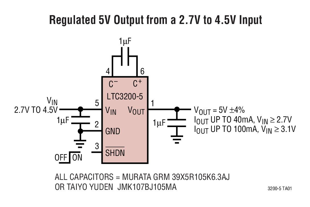 Ltc3200 Low Noise Regulated Charge Pump Dc Converters Bdtic Led Driver Using Ltm8042 Module Boost Applications