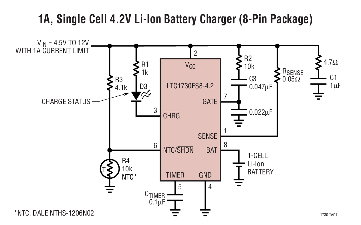 Overcurrent Sensor Battery Charger Circuit Information Of Wiring 12 Volt Solar Ltc1730 Lithium Ion Pulse Chargers With Rh Bdtic Com Volts 30
