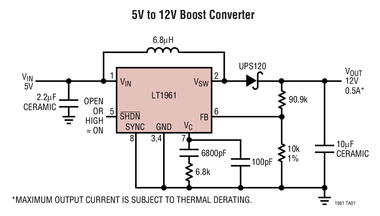 Lt1961 15a 125mhz Step Up Switching Regulator Bdtic A Leading Circuit An Actual Applications