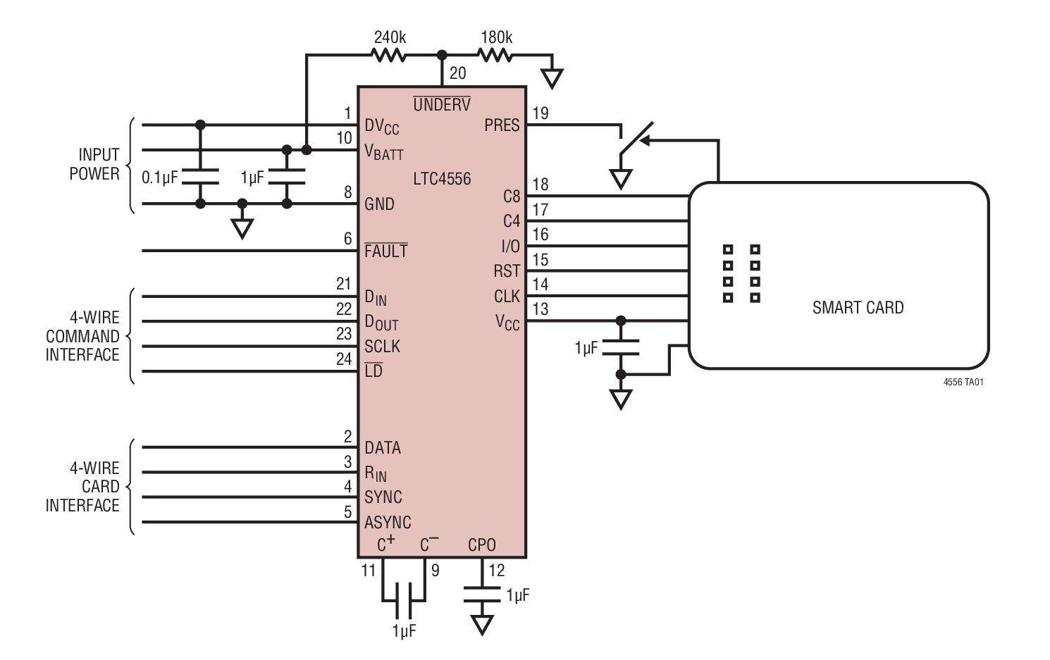 ltc4556 - 具串行控制功能的智能卡接口