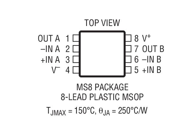 LTC6244 是一个双路高速、单位增益稳定的 CMOS 运算放大器,具有 50MHz 的增益带宽、 40V/s 的转换速率、1pA 的输入偏置电流、低输入电容和轨至轨输出摆幅。0.1Hz 至 10Hz 噪声仅为 1.5VP-P,而且,1kHz 噪声保证低于 12nV/Hz。这种卓越的 AC 和噪声性能与宽电源操作范围、仅 100V 的最大失调电压以及仅 2.