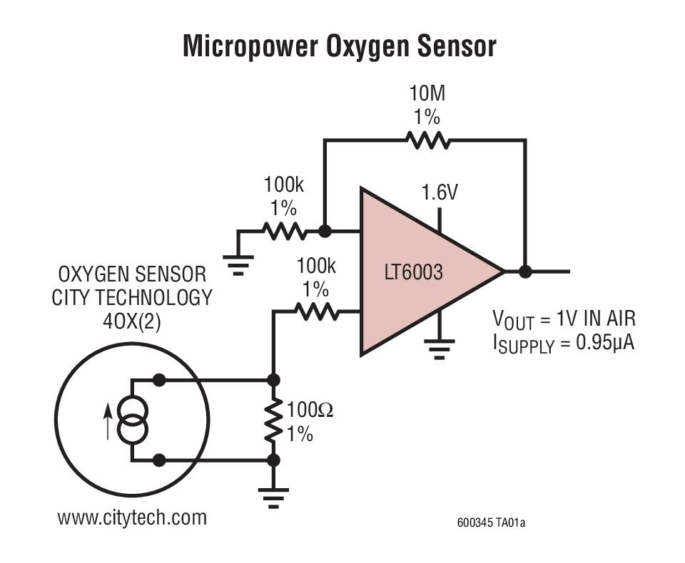 LT6003 - 1 6V, 1µA Precision Rail-to-Rail Input and Output