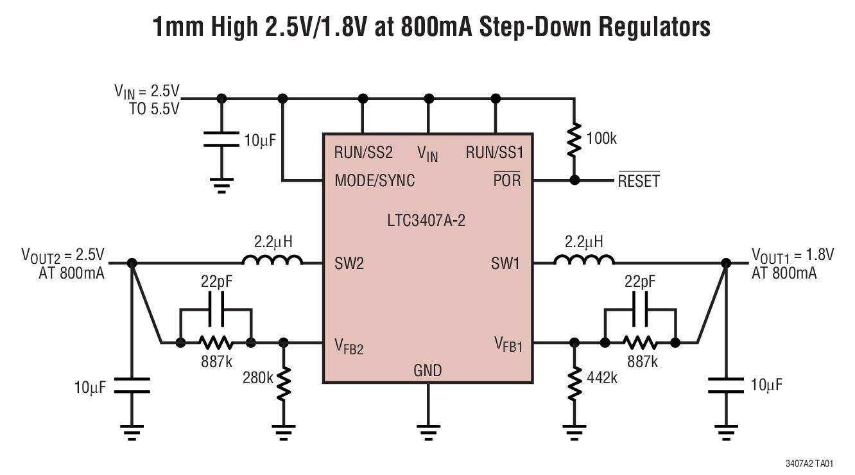 35Ω 旨在获得卓越的电压和负载瞬态响应的电流模式操作 短路保护