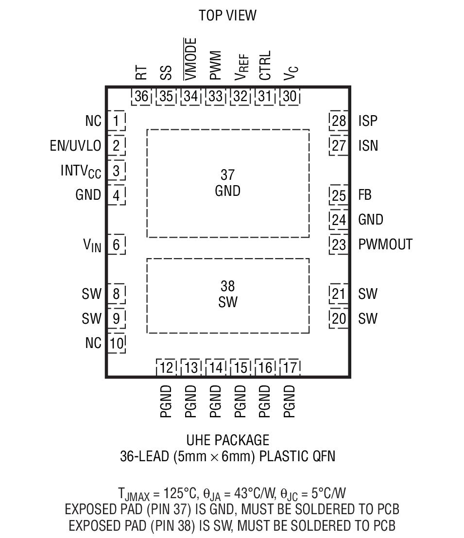 Lt3956 80vin 80vout Constant Current Voltage Converter Led Driver Using Ltm8042 Module Boost Order Information