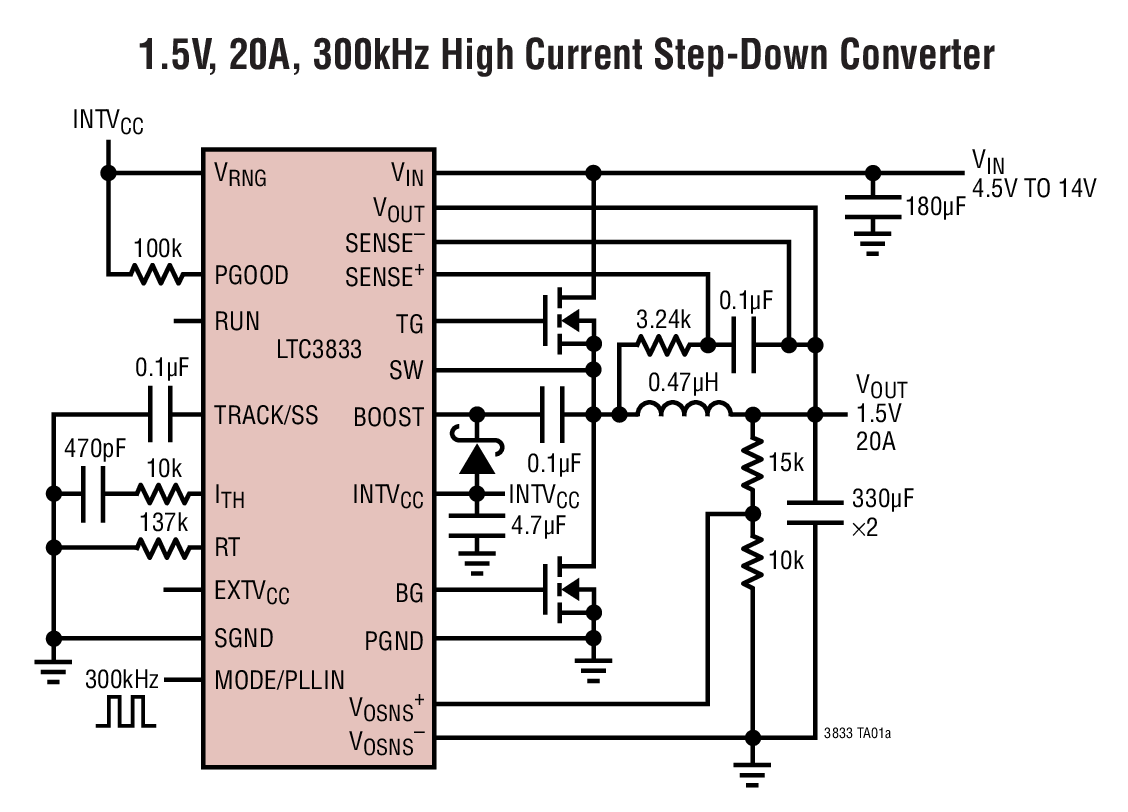 Low Voltage Stepdown Converter Circuit Diagram