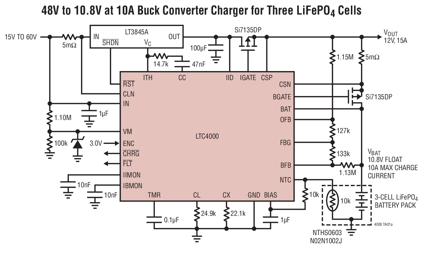 Ltc4000 High Voltage Current Controller For Battery Charging Solar Charger Circuit Diagram Applications Power Systems