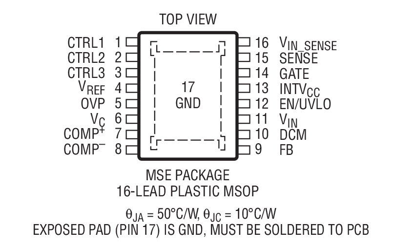 pfc 反激式控制器 vin 和 vout 仅受限于外部组件 有源功率因数校正