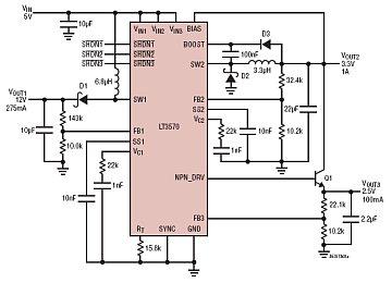 36v升压220v电路图