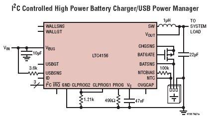 ltc4156 具 i2c 控制和 usb otg 功能的双通道输入电源管理器 / 3.