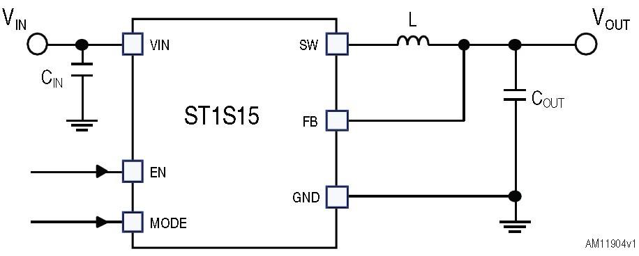 st1s15 500 ma  6 mhz synchronous step