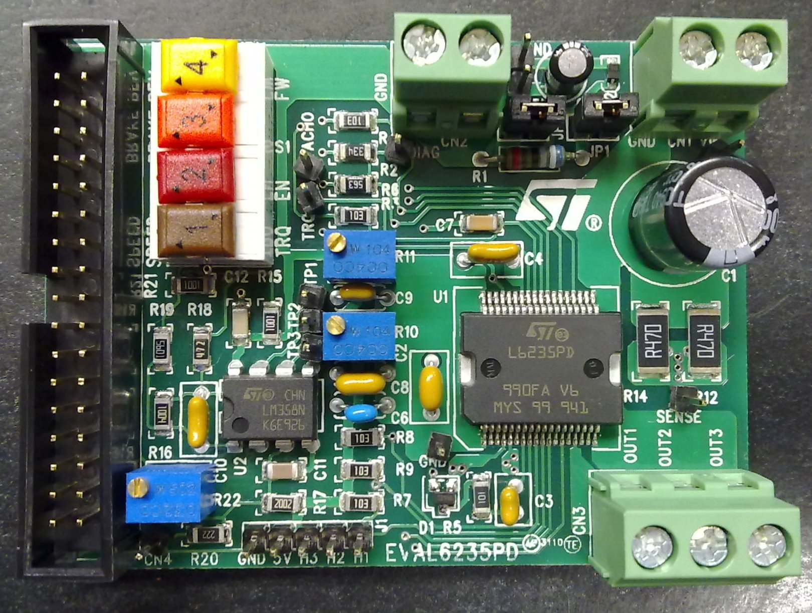 Eval6235pd L6235 Three Phase Brushless Dc Motor Driver
