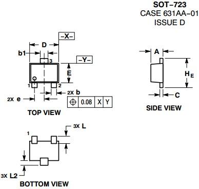 bc846bm3t5g npn bipolar transistor